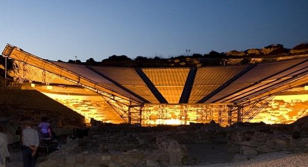 Eraclea Minoa teatro con illuminazione