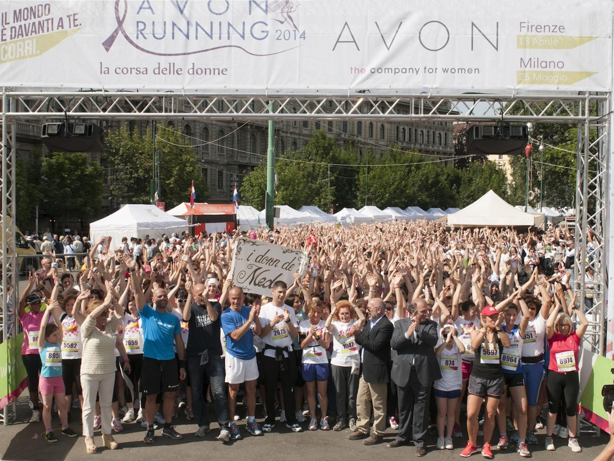 avon running Partenza 5 Km Milano 2014