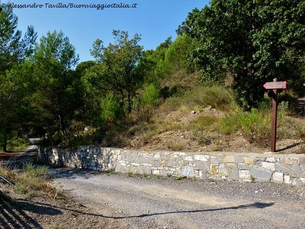 sentiero verso Cipressa