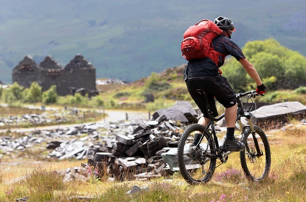 Osprey Europe location shoot in Snowdonia, Wales, 2nd July 2014, featuring the Osprey Escapist, Red