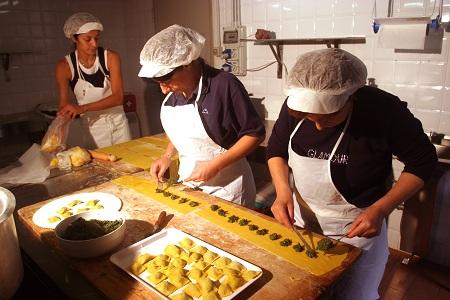 I tortelli a Reggio Emilia