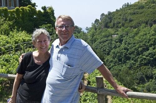 Roberto e al moglie Alessandra alle Cinque Terre