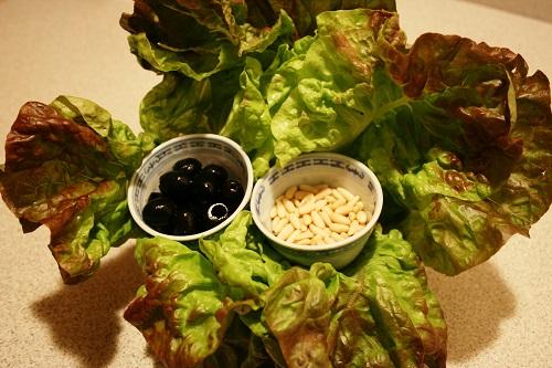 Insalata cotta e olive