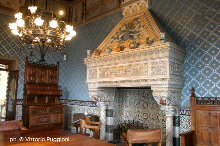 Interni del Castello D'Albertis a Genova