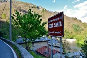Cartello Borgo Isola Santa