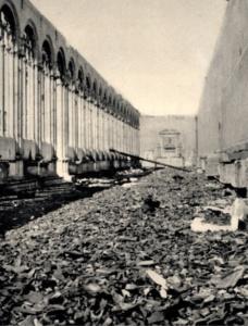 Camposanto monumentale dopo i bombardamenti